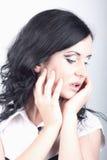 Pomysłowo target744_0_ z makeup piękna dziewczyna. Zdjęcia Royalty Free