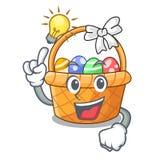 Pomysłu Easter kosz nad drewniany kreskówka stół ilustracji