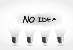 pomysłu lampy nie Zdjęcia Stock