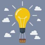 Pomysłu lightbulb balon Zdjęcie Stock