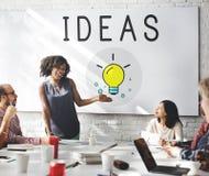 Pomysłu Lightbulb innowaci ikony Myślący pojęcie Obraz Stock