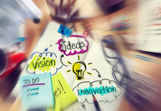 Pomysłu wzroku innowaci części myśli pojęcia Obrazy Stock