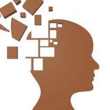 Pomysły myśli przedstawienia Odbijają Kontemplują I pojęcie Fotografia Royalty Free