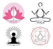 pomysłów loga joga Zdjęcie Royalty Free