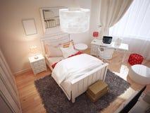 Pomysł art deco sypialnia Obrazy Royalty Free