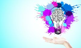 Pomys? i innowaci poj?cie royalty ilustracja