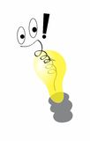 Pomysł skacze lightbulb Zdjęcie Stock