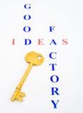 pomysłu fabryczny dobry klucz Zdjęcie Royalty Free