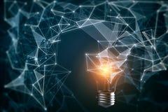 Pomys?u i innowaci t?o ilustracja wektor