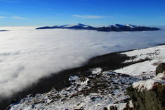 ponad chmurami Zdjęcia Royalty Free