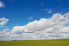 ponad cloudscape trawa zieleni Obrazy Stock
