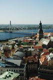 ponad Riga Fotografia Royalty Free
