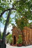 Ponagar góruje, świątynia, thap półdupki, po nagar, nha trang Obrazy Stock