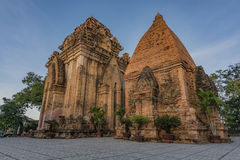 Ponagar temple towers in Nha Trang royalty free stock photos