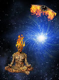 płonąca medytacja Obrazy Stock