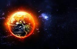 płonąca ziemi Zdjęcia Royalty Free