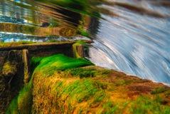 Ponce德利昂春天-水坝溢出 免版税图库摄影