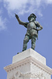 Ponce de Leon Statue. A statue (ca. 1882) of Ponce de Leon in Old San Juan Stock Photography