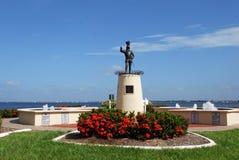 Ponce De Leon Statue på Punta Gorda Florida Royaltyfri Bild
