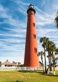 Ponce DE Leon vuurtoren, Daytona Beach, Florida Stock Foto's