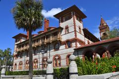 Ponce Flagler学院的德利昂霍尔在佛罗里达 免版税库存图片