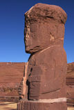Ponce stela in the Tiwanaku temple Stock Photos