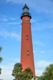 Poncede Leon Inlet vuurtoren in Daytona Beach Florida Stock Afbeeldingen
