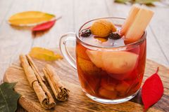 Ponche navidad mexico, mexican fruits hot punch traditional for christmas. Fruits from mexico royalty free stock images
