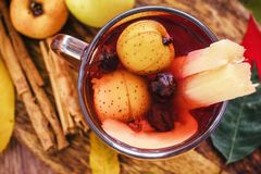 Free Ponche Navidad Mexico, Mexican Fruits Hot Punch Traditional For Christmas Royalty Free Stock Photo - 132884145