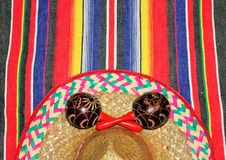 Poncho background Mexico traditional cinco de mayo rug poncho fiesta with stripes. Poncho background sombrero Mexican traditional cinco de mayo rug fiesta with Royalty Free Stock Image