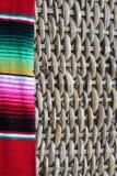 Poncho serape background Mexican cinco de mayo fiesta wooden copy space Stock Photos