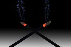 Płonący dym Zdjęcia Royalty Free