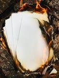 Płonący papier Zdjęcie Stock