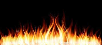 płonący pożarniczy płomień Fotografia Royalty Free