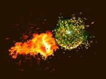 Poncz z ogieniem ilustracji