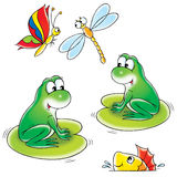 Pond. Isolated clip-art and children's illustration for yours design, postcard, album, cover, scrapbook, etc Stock Photo