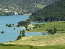 The pond of Alloz in Navarre Stock Photo