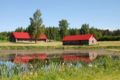 Free Pond And Houses Stock Image - 19860781
