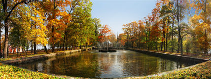 Pond in autumn Royalty Free Stock Photos