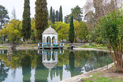 Pond in a beautiful park. In New Athos, Abkhazia Stock Photography
