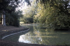Pond in Bedford Park. Bedford, England Royalty Free Stock Images