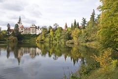 Pond beneath the castle Stock Image