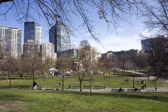 Pond in Boston Common garden Stock Image