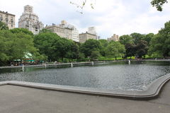 Pond in central park Royalty Free Stock Photography