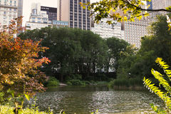 The Pond, Central Park, NYC Stock Image