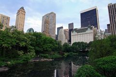 The Pond in Central Park - NYC Royalty Free Stock Photography