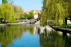 Pond in the centre of Tapolca Royalty Free Stock Image