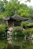 Pond in classic chinise garden Stock Photo