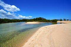 pond coastline river   relax and bush   madagascar Stock Images