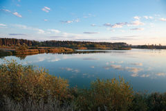 Pond in countryside in autumn Stock Photography